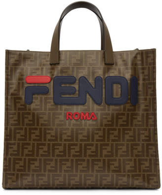 Fendi Brown Mania Shopping Tote