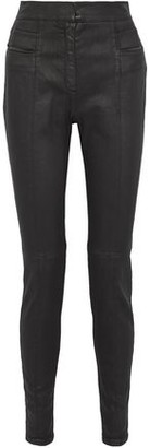 Balmain Coated Cotton-Blend Twill Skinny Pants
