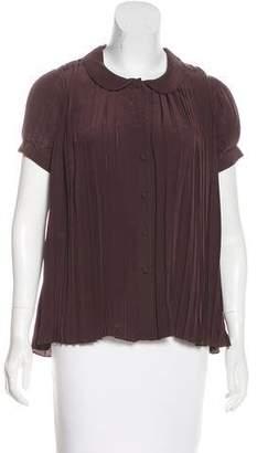 Mayle Silk Pleated Top