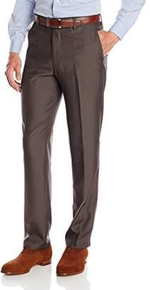 Haggar Men's Performance Herringbone Straight-Fit Plain-Front Slack