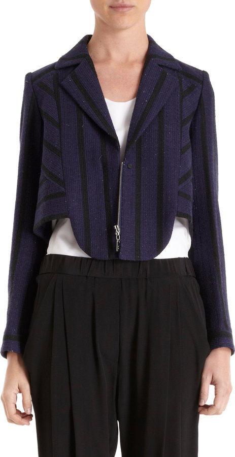 ICB Striped Tweed Jacket