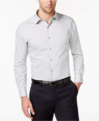 Alfani AlfaTech by Men's Slim-Fit Performance Stretch Shaded Cube Print Dress Shirt, Created for Macy's