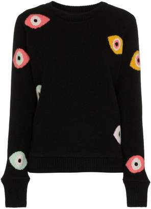 The Elder Statesman eye intarsia knitted sweater