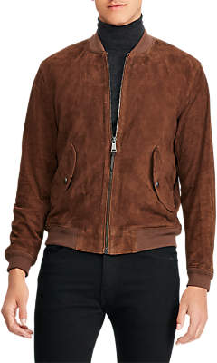 Ralph Lauren Polo Suede Gunners Jacket, Country Brown