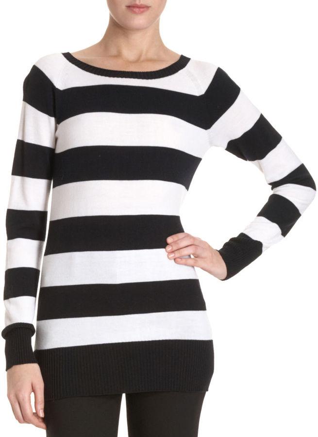 Black Fleece Striped Sweater