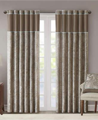"Madison Home USA Aubrey 50"" x 95"" Paisley Jacquard Faux-Silk Rod Pocket/Back Tab Curtain Panel Pair"