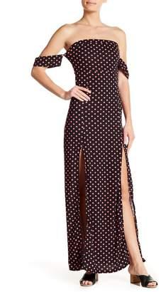 American Twist Off-the-Shoulder Split Maxi Dress