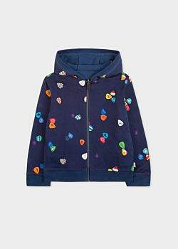 Paul Smith Boys' 8+ Years Navy 'Plectrum' Print Reversible Hoodie