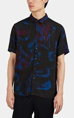 Ksubi Men's Floral-Print Twill Shirt - Black