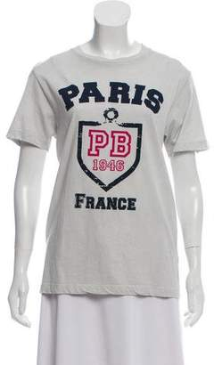 Pierre Balmain Printed Distressed T-Shirt