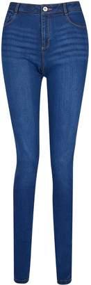 Dorothy Perkins Womens **Tall Blue Midwash 'Ellis' The Classic Slim Fit Jeans