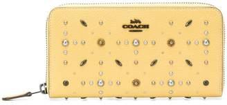 Coach prairie rivet accordion zip wallet