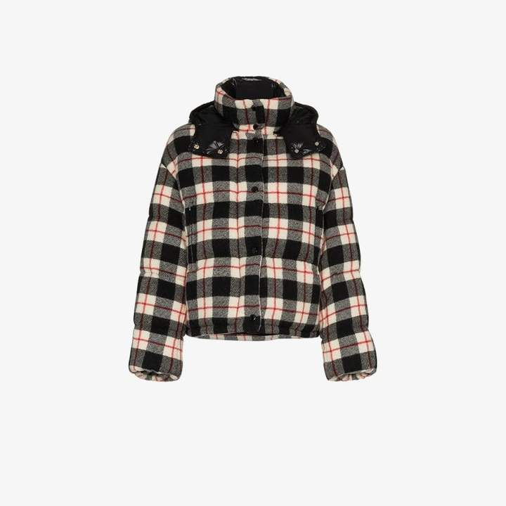 Caille Checked Down Jacket