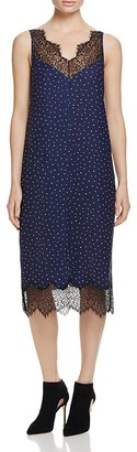 Whistles Martha Lace Trim Dress - 100% Bloomingdale's Exclusive $420 thestylecure.com
