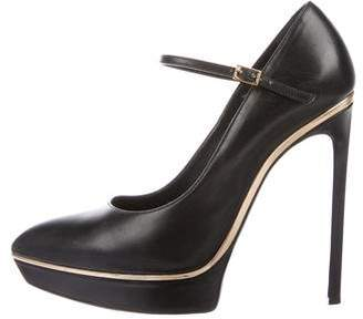 Saint Laurent Platform Pointed-Toe Pumps
