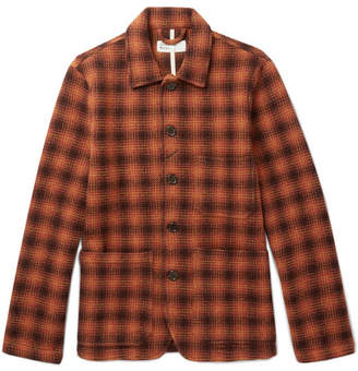 Universal Works Checked Textured-Wool Jacket