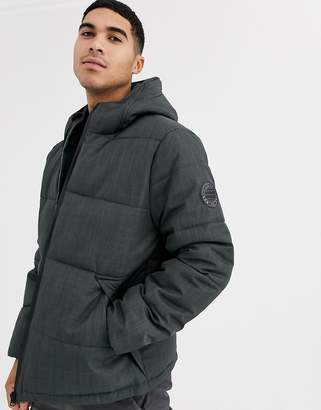 Menswear puffer jacket in grey