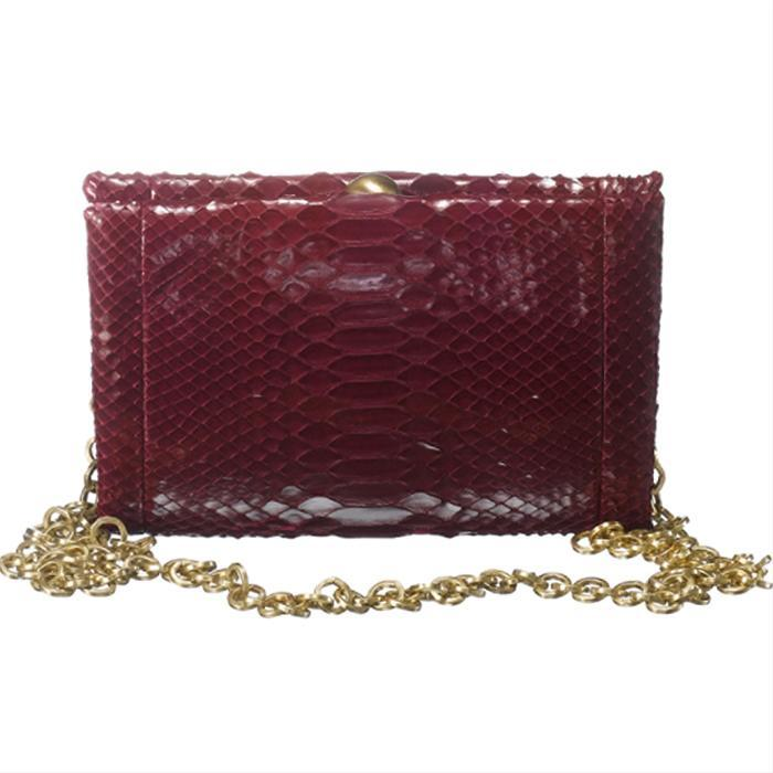 Shiny Red Python Clutch by Sang A