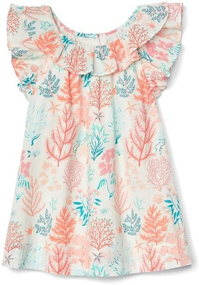 Coral reef ruffle dress $39.95 thestylecure.com