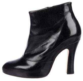 Marc Jacobs Leather Round-Toe Booties