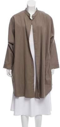 Black Crane Open Front Casual Jacket
