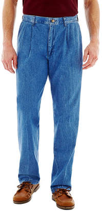 Lee Stain Resist Pleated Denim Pants