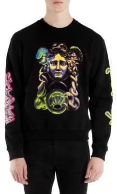 Versace Medusa Pop-Art Crewneck Sweatshirt