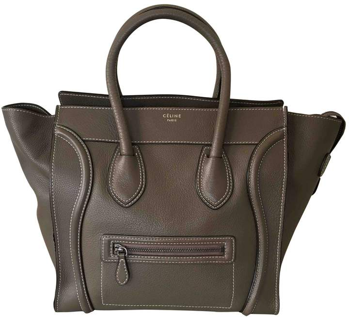 Luggage leather handbag