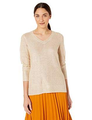 Calvin Klein Women's Sequin Sweater with V-Neck