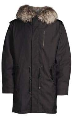 Mackage Mortiz Fox& Rabbit Fur Military Parka