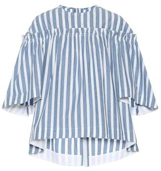 Golden Goose Striped cotton and silk top