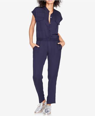 Rachel Roy Elastic-Waist Stand-Collar Jumpsuit, Created for Macy's