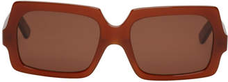 Acne Studios Brown Large George Sunglasses