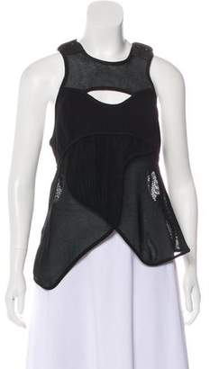 Alexander Wang Leather and Mesh Top w/ Tags