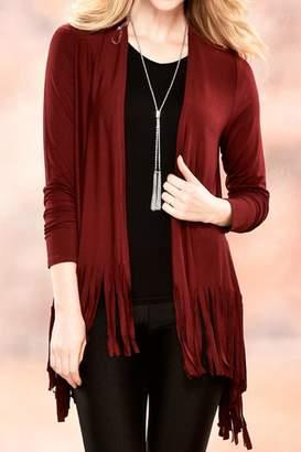 Paige Charlie Fringed Cardigan Sweater
