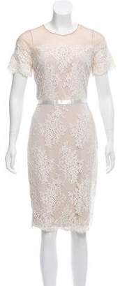 Marchesa Lace Midi Dress