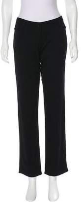 John Galliano Wool Mid-Rise Pants
