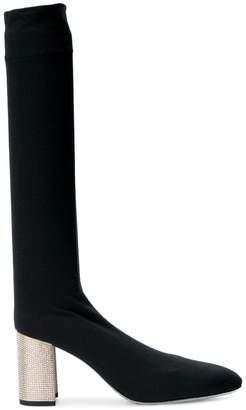 Rene Caovilla embellished knee boots