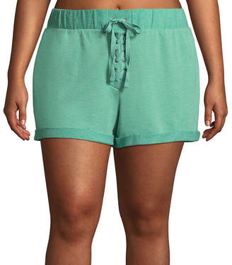 Flirtitude Knit Pull-On Shorts-Juniors Plus