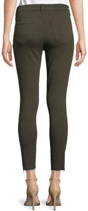 L'Agence Margot High-Rise Skinny Jeans w/ Unfinished Hem