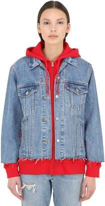 Levi's LAYERED COTTON SWEATSHIRT & DENIM JACKET