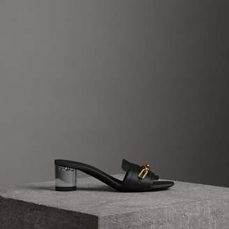 a230cad1f987 Burberry Black Heeled Women s Sandals - ShopStyle