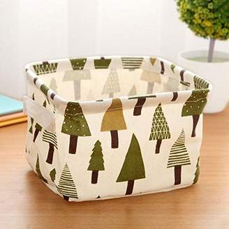 CALISTOUS 1PC Stationery Handicraft Storage Basket Linen Desk Storage Box Tree