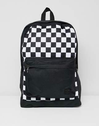 Jack and Jones Backpack With Checkerboard Print