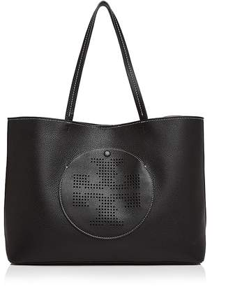 Tory Burch Perforated Logo Leather Tote $395 thestylecure.com