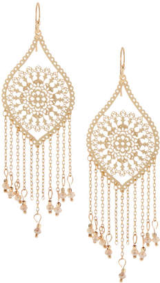 Panacea Filigree Fringe Drop Earrings