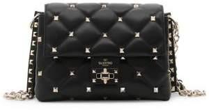 Valentino Medium Quilted Candystud Leather Shoulder Bag