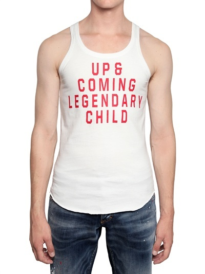 DSquared Up & Coming Cotton Jersey Tank Top