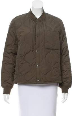 Mother Quilted Bomber Jacket