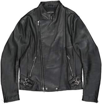 Emporio Armani Black Leather Jackets